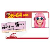 Titre de transport Pass' Mensuel 26 - 64 ans